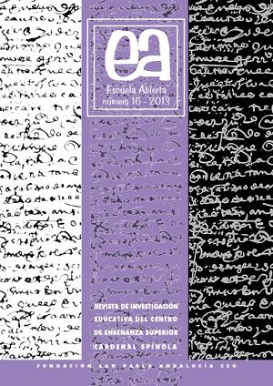 Ver Vol. 16 (2013): Escuela Abierta, 16